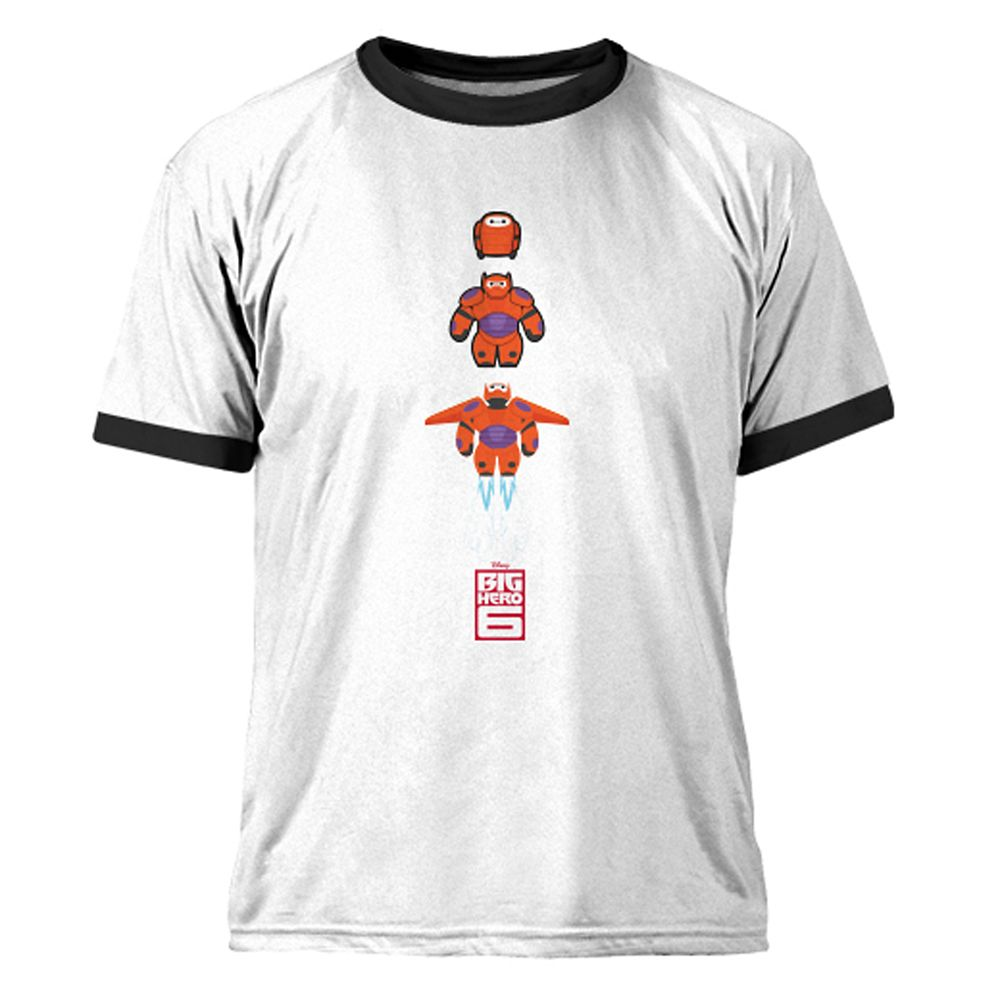 Big Hero 6 Baymax Mech Ringer Tee for Men – Customizable