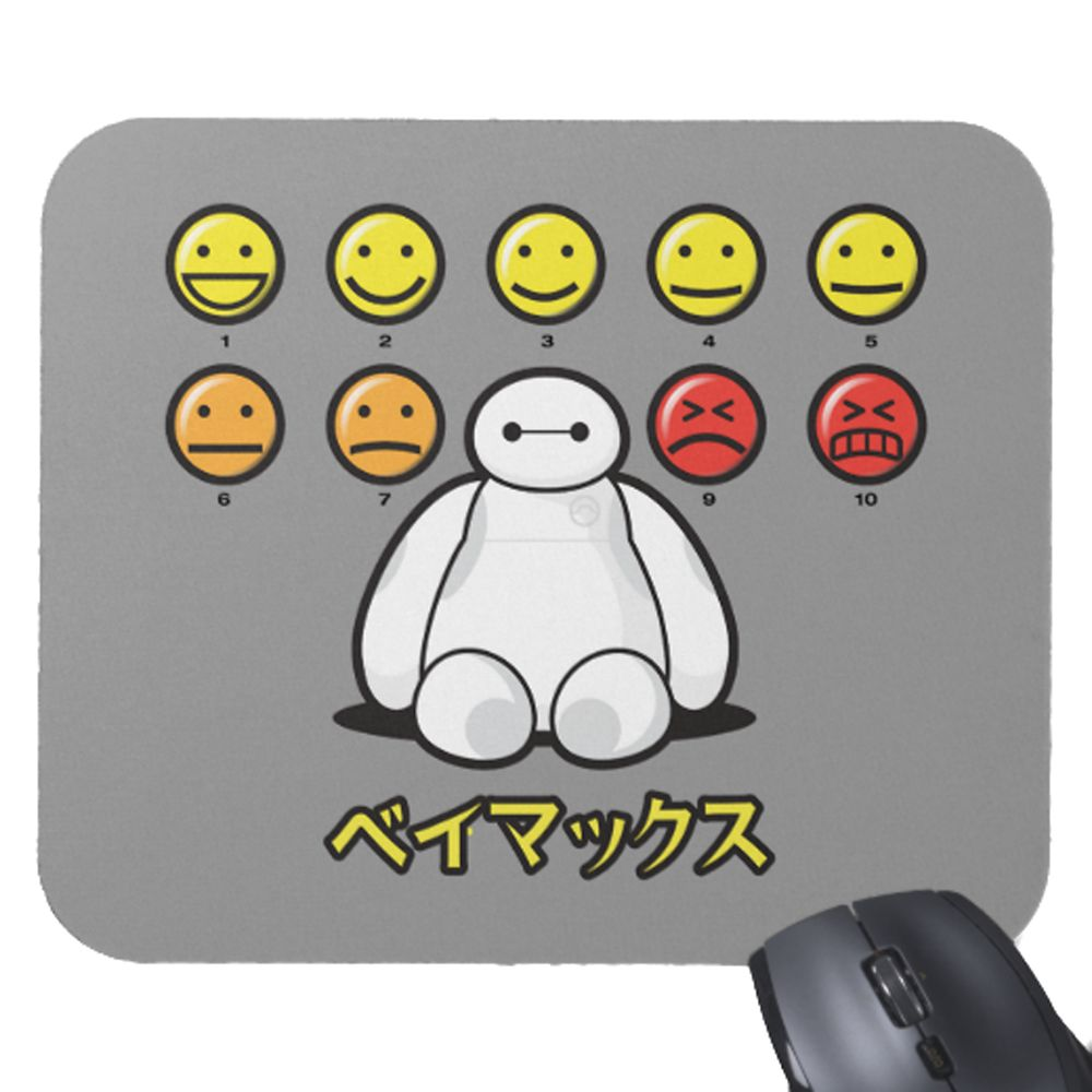 Big Hero 6 Baymax Emoticons Mousepad – Customizable