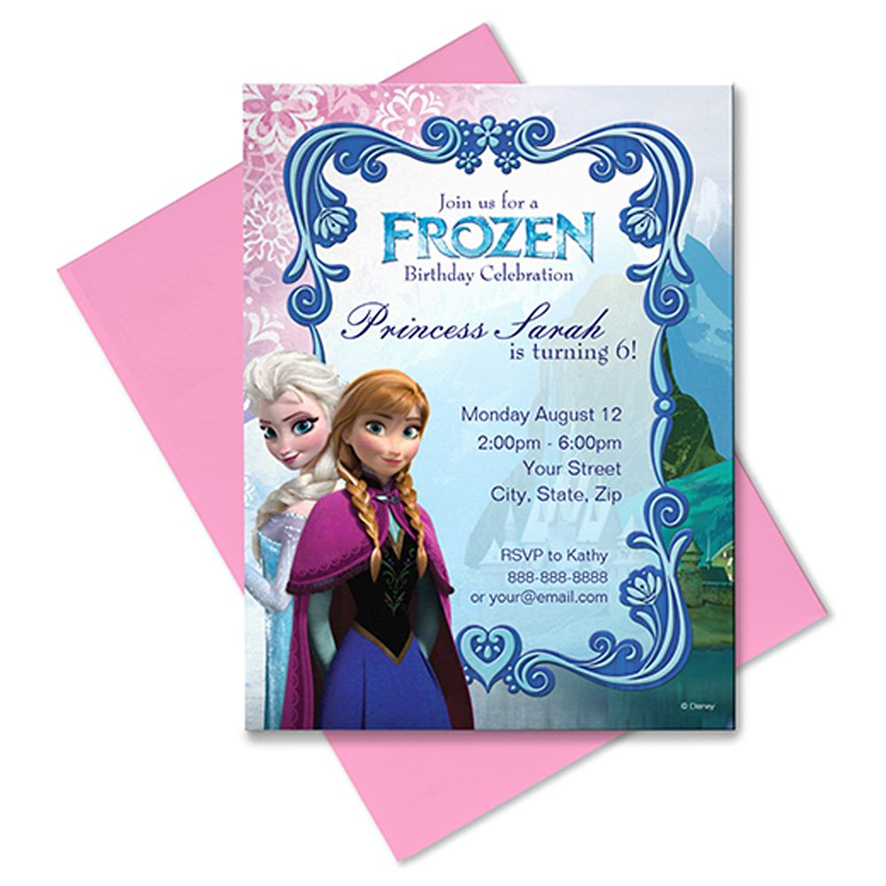 Frozen Invitation – Customizable