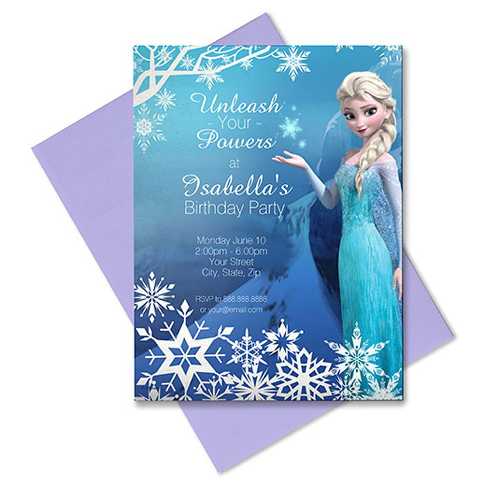 Elsa Invitation – Customizable