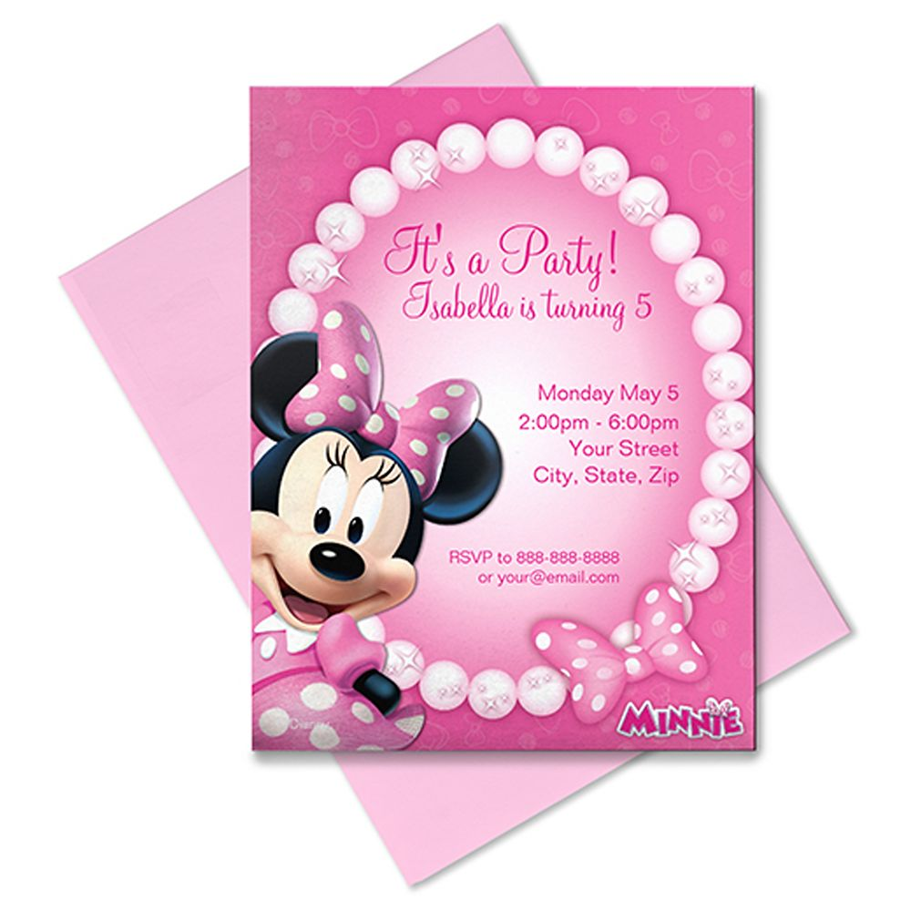 Minnie Mouse Invitation – Customizable – Pink