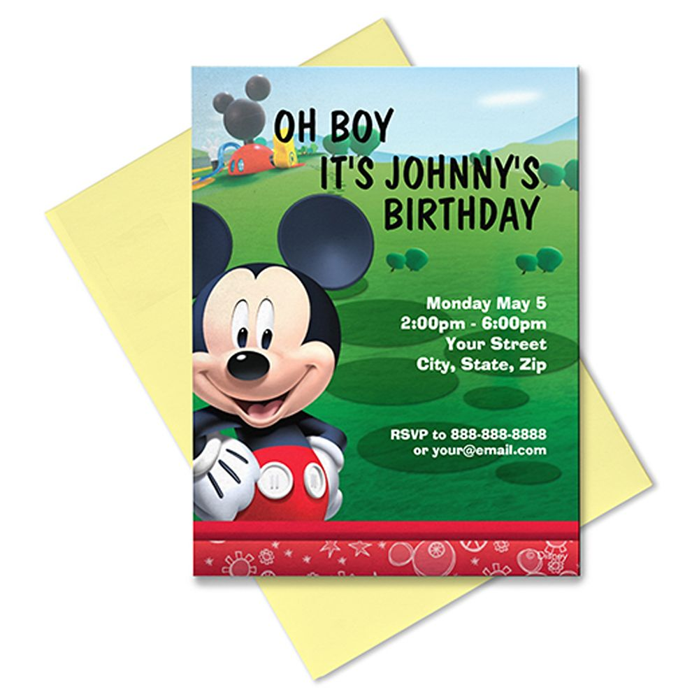Mickey Mouse Invitation – Customizable
