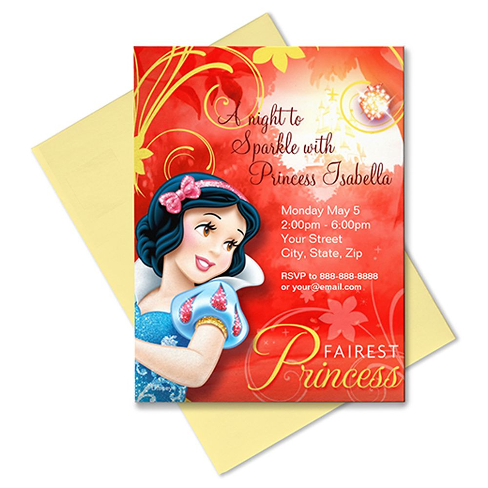 Snow White Invitation – Customizable