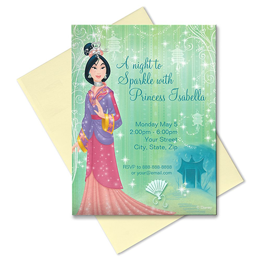Mulan Invitation – Customizable