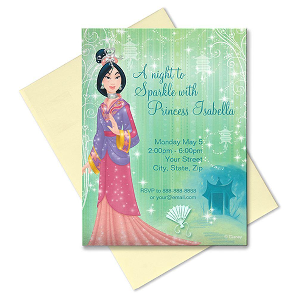 Mulan Invitation  Customizable Official shopDisney