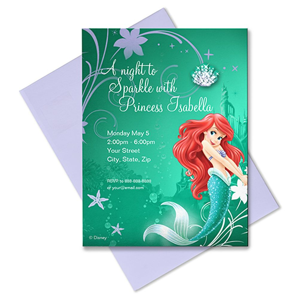 Ariel Invitation – Customizable