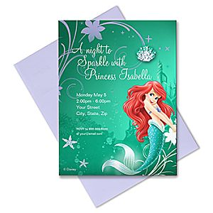 Ariel Invitation - Customizable