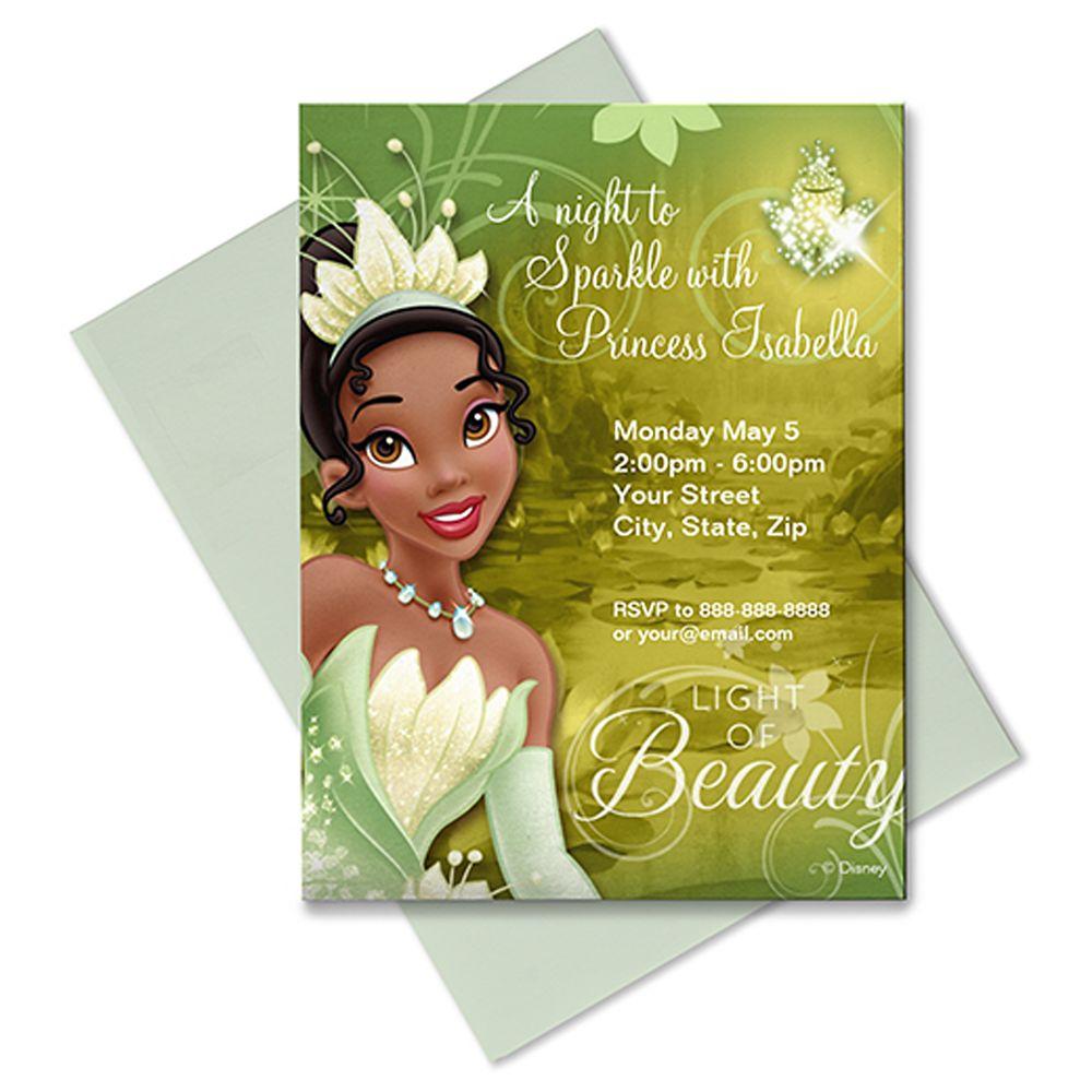 Tiana Invitation  Customizable Official shopDisney