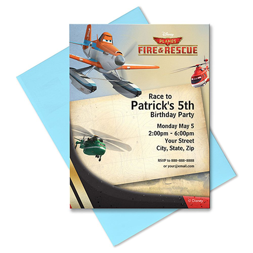 Planes: Fire & Rescue Invitation – Customizable