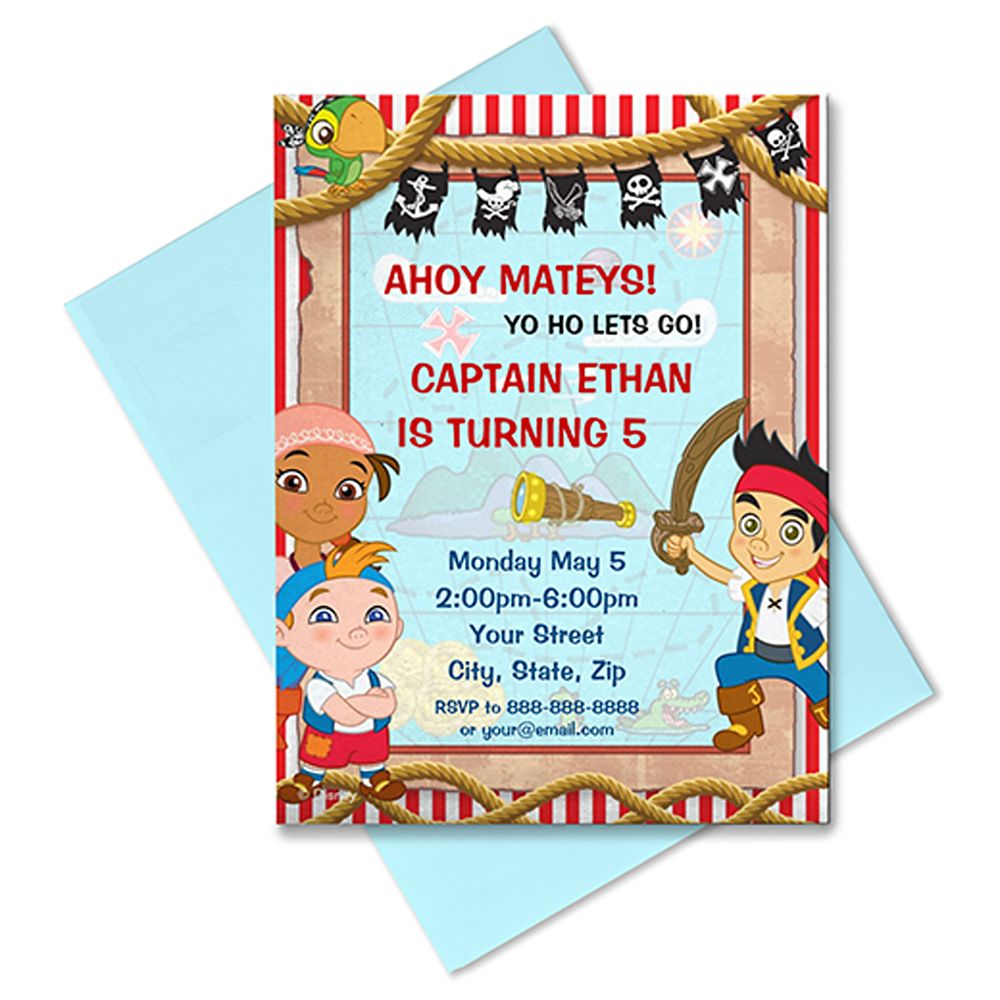 Jake and the Never Land Pirates Invitation  Customizable Official shopDisney