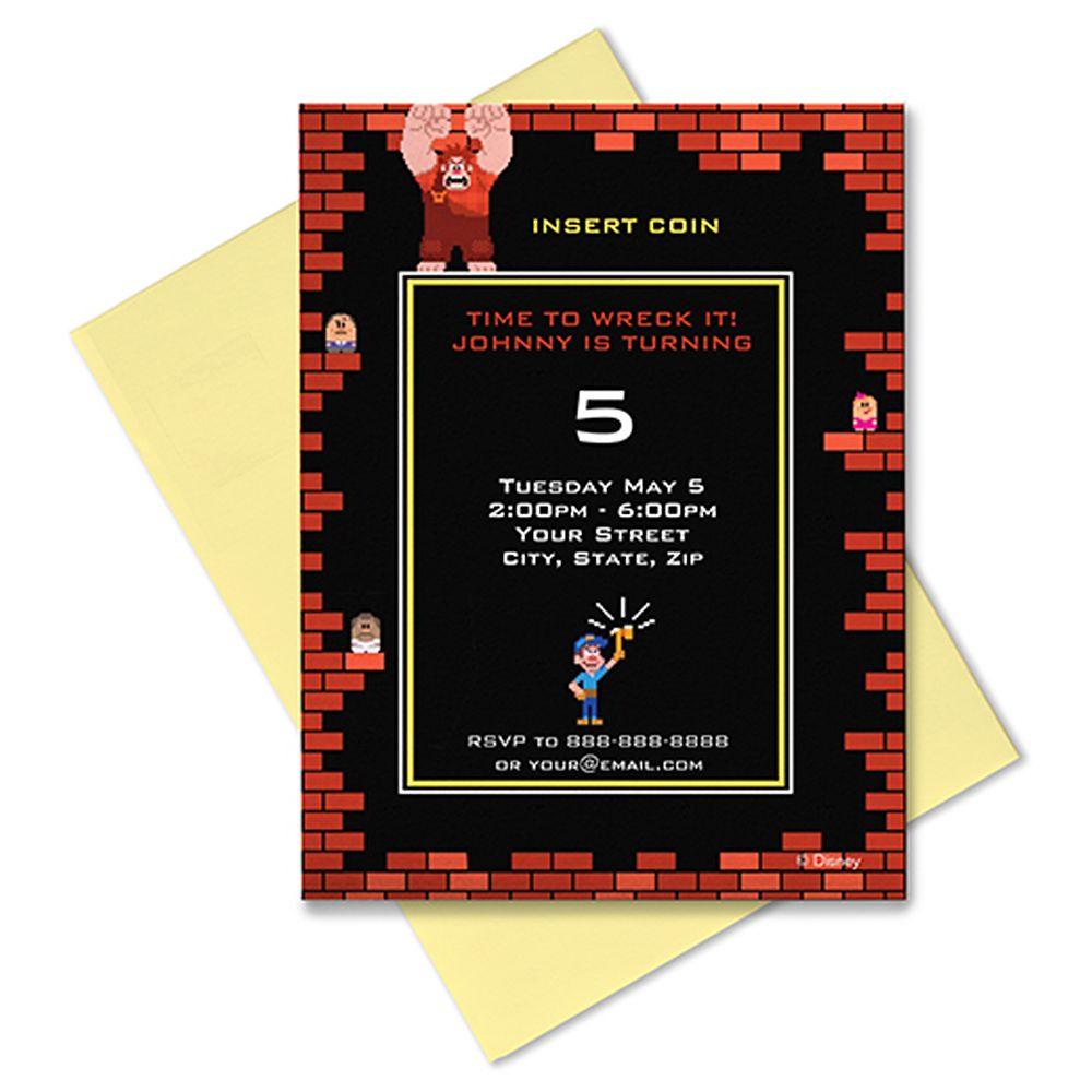 Wreck-It Ralph Invitation – Customizable