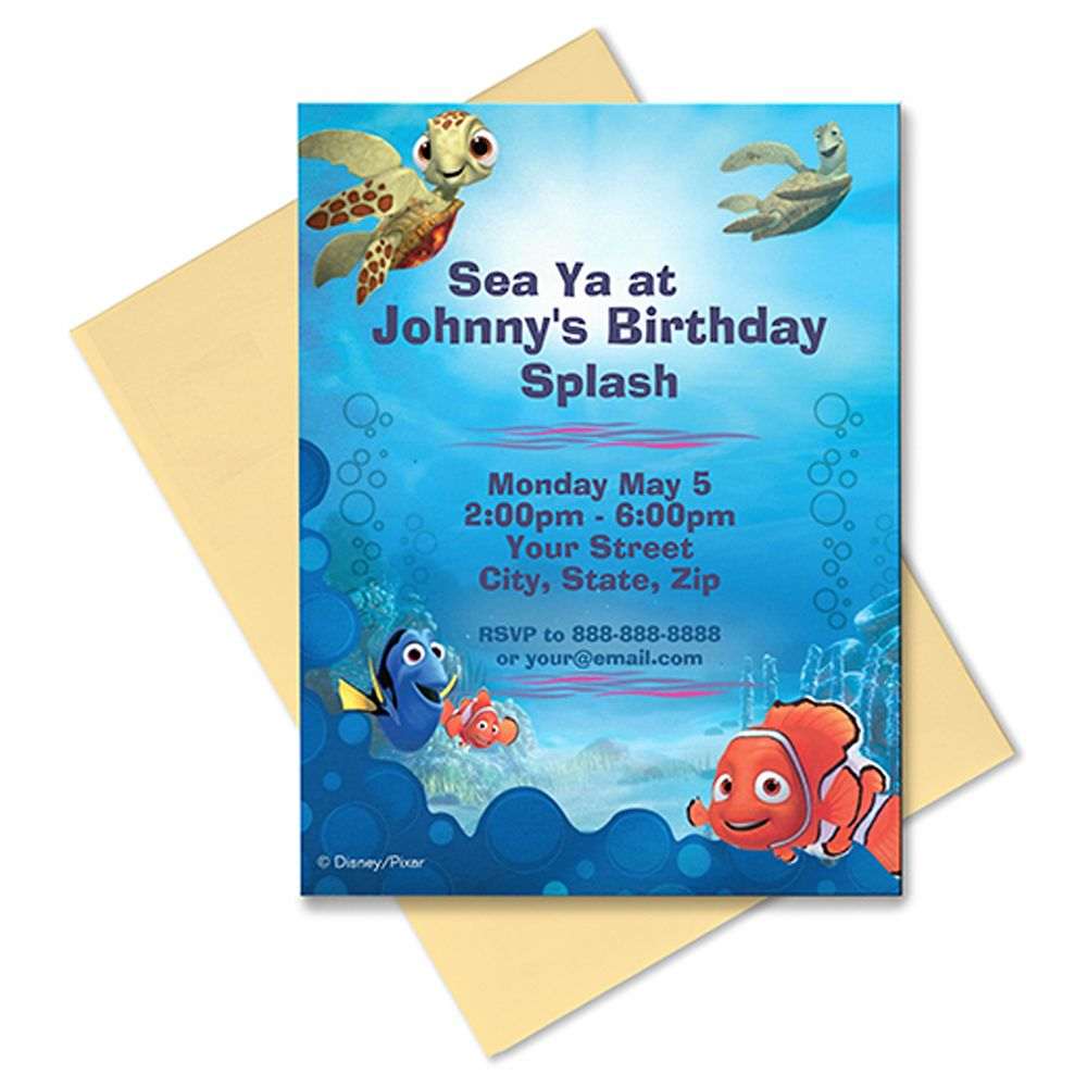 Finding Nemo Invitation – Customizable