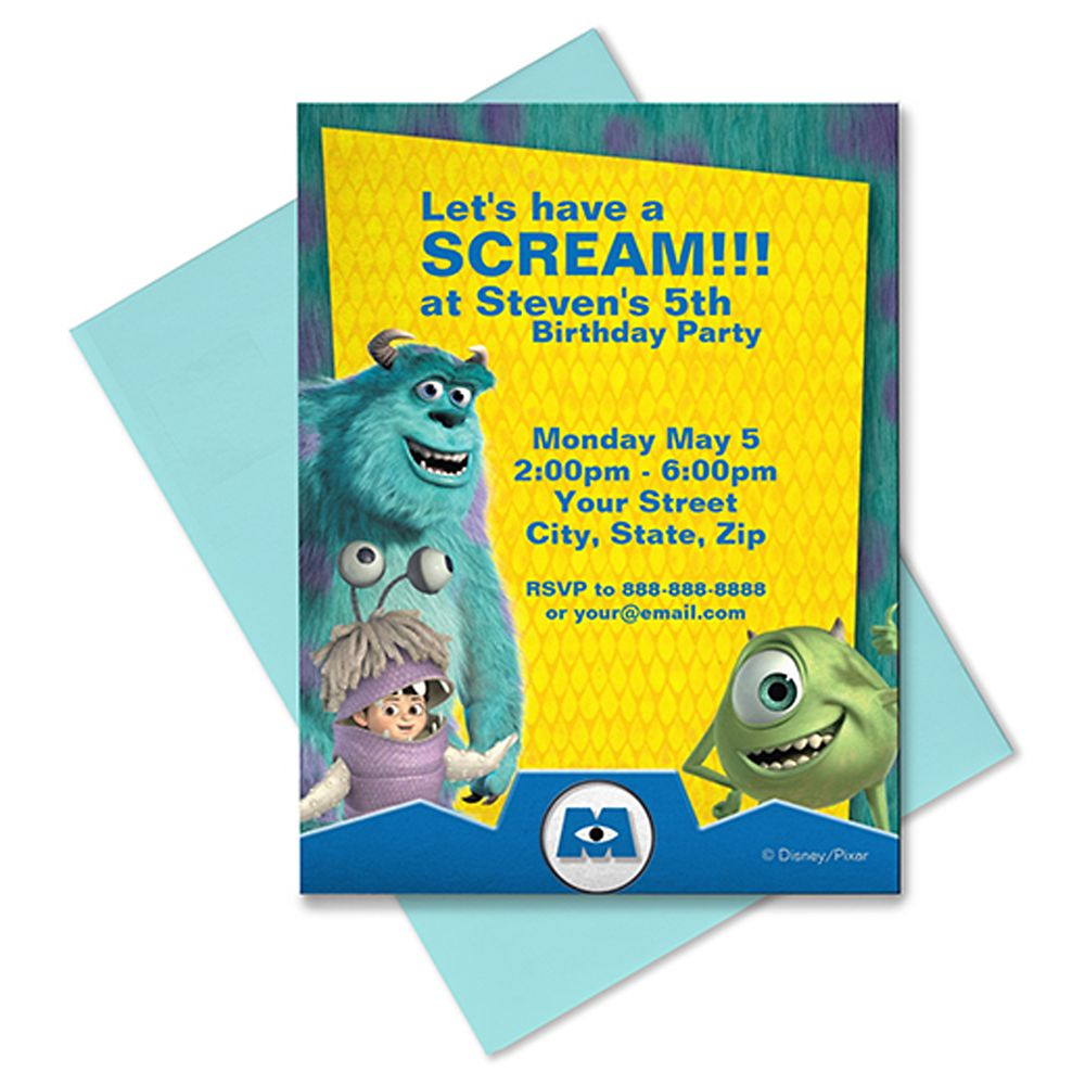 Monsters, Inc. Invitation – Customizable