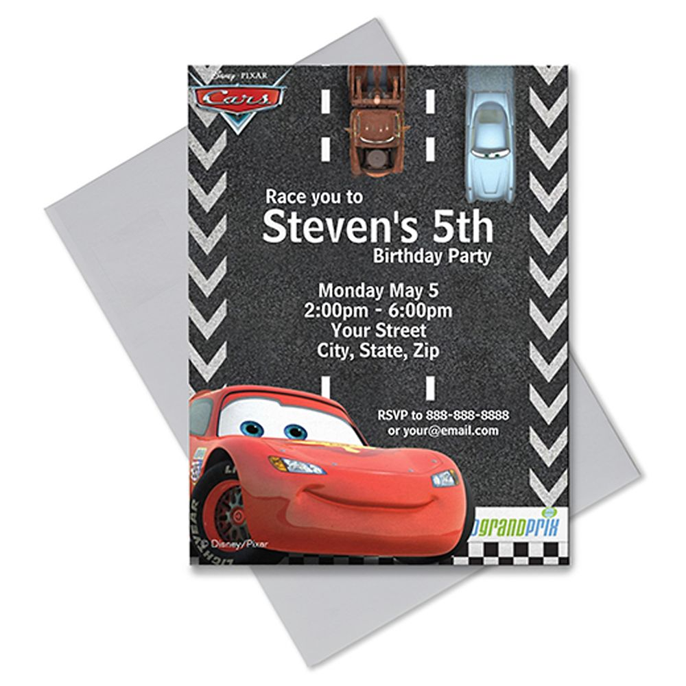 Cars Invitation – Customizable