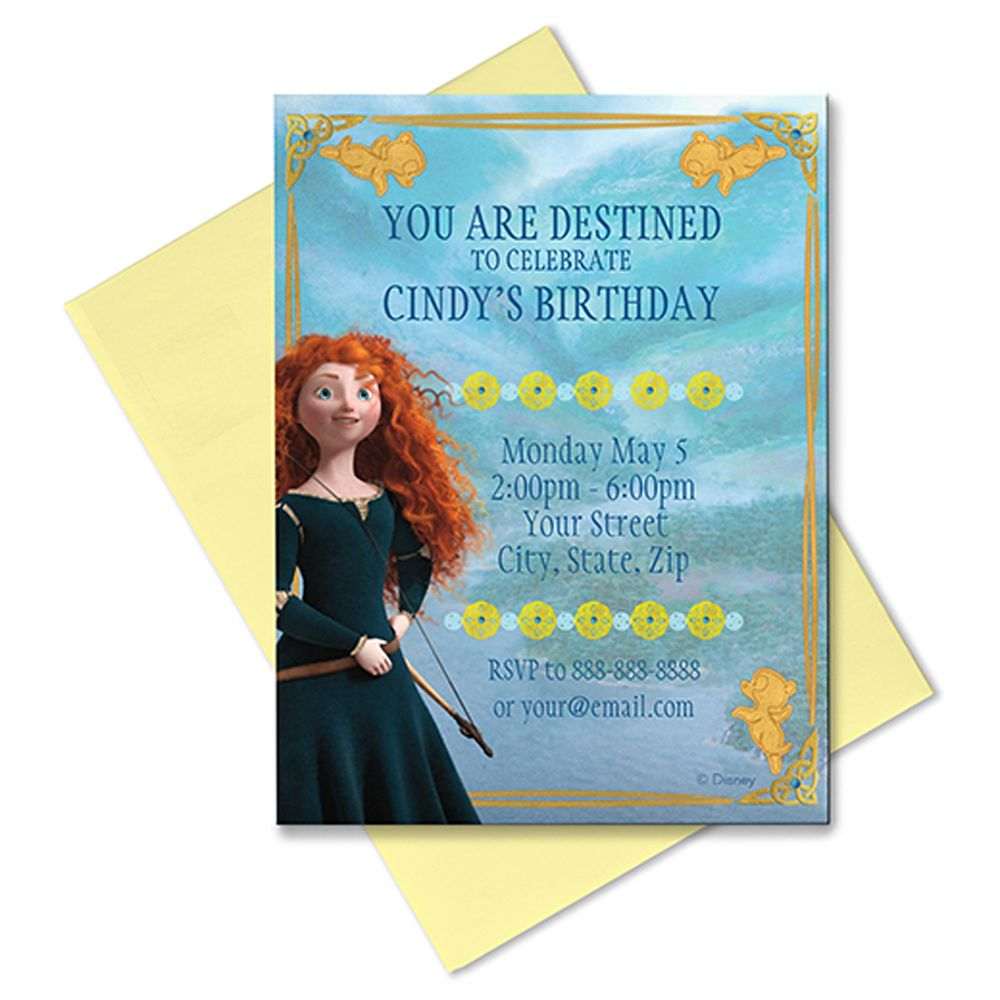 Brave Invitation – Customizable