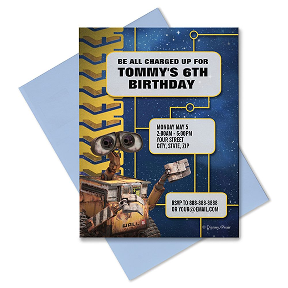 WALL-E Invitation – Customizable