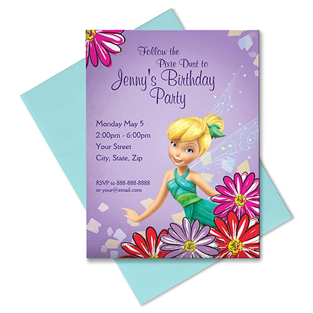 Tinker Bell Invitation – Customizable