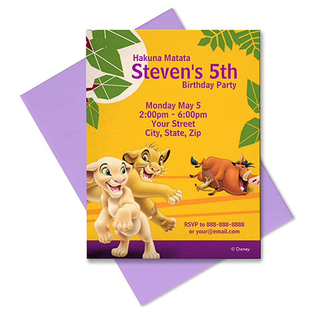 The Lion King Invitation – Customizable