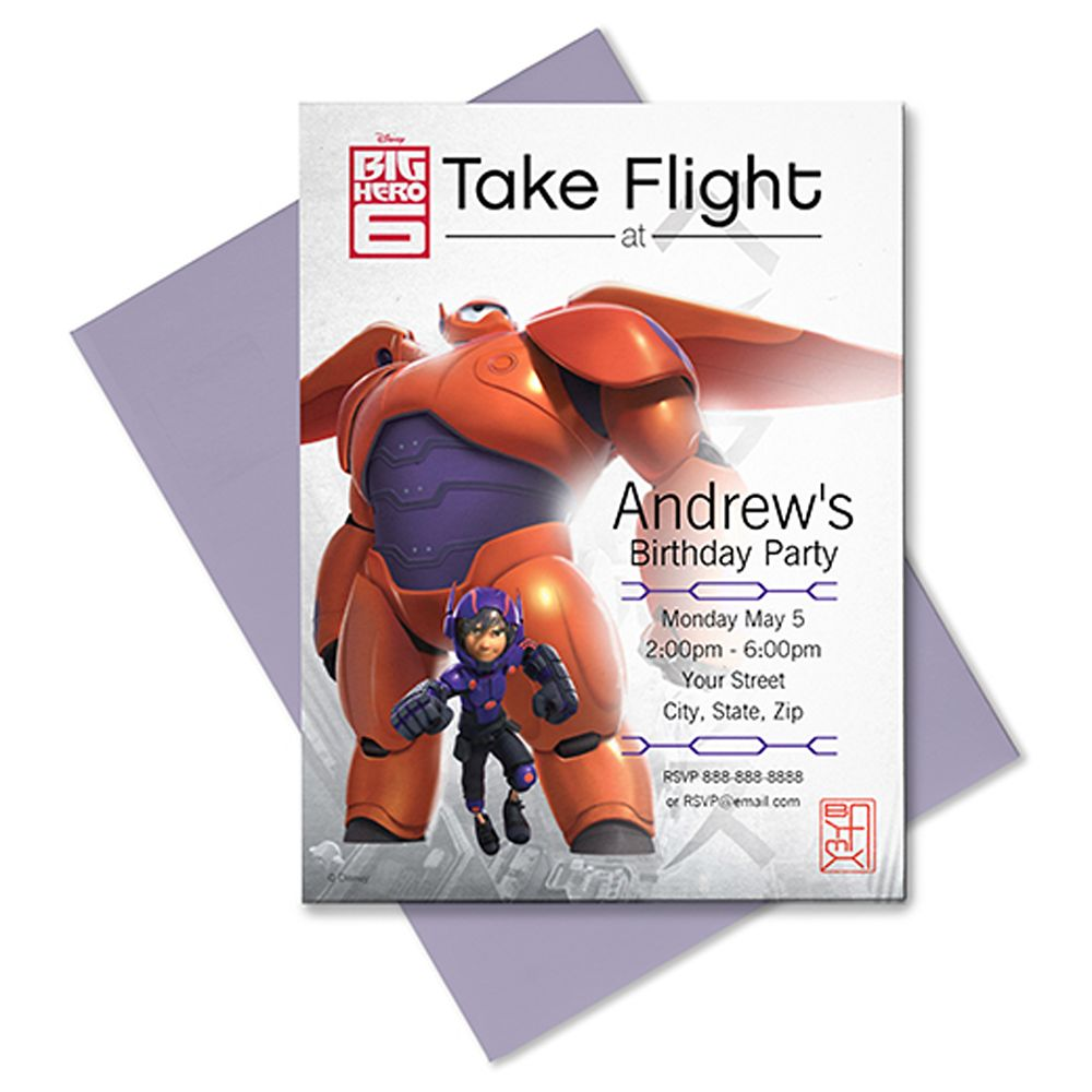 Big Hero 6 Invitation  Customizable Official shopDisney