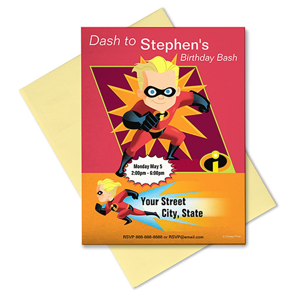 The Incredibles Invitation – Customizable