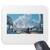 Tomorrowland Syd Mead Mouse Pad – Customizable