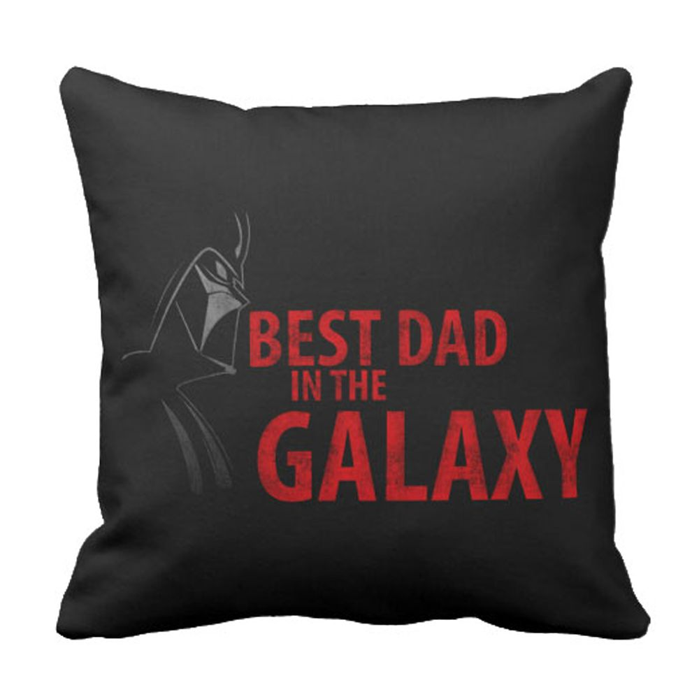 Star Wars ''Best Dad in the Galaxy'' Throw Pillow – Customizable