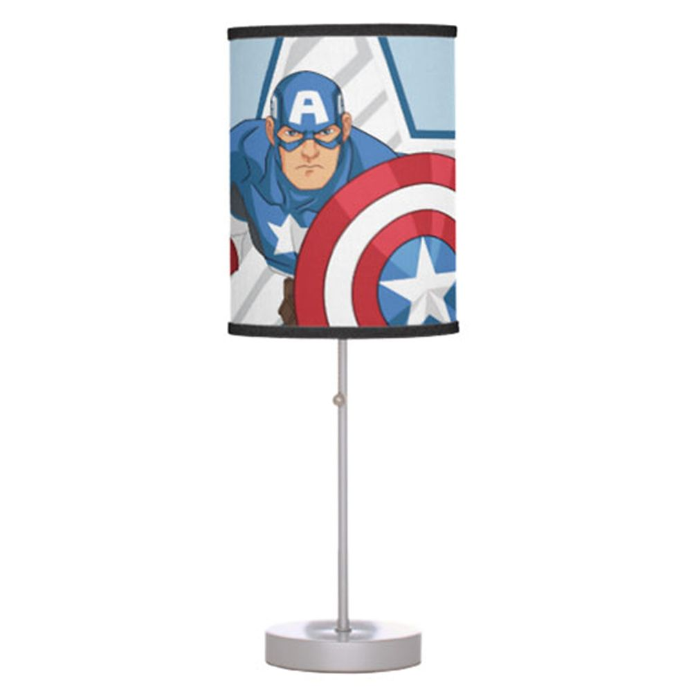 Captain America Lamp for Kids – Customizable
