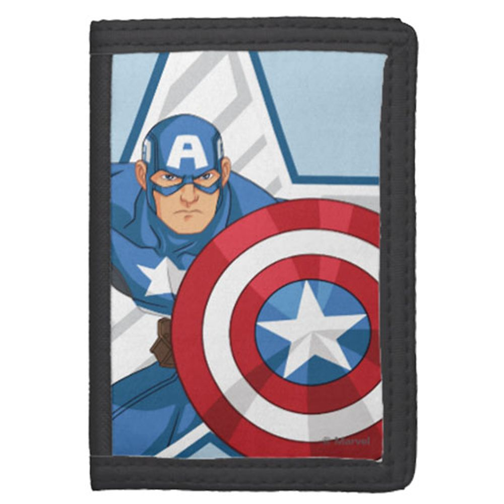 Captain America Nylon Wallet for Kids – Customizable