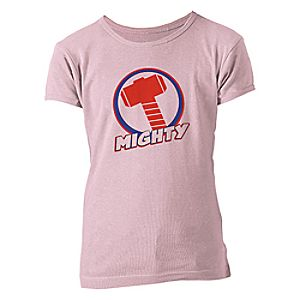 Thor Mighty Logo Tee for Girls - Customizable