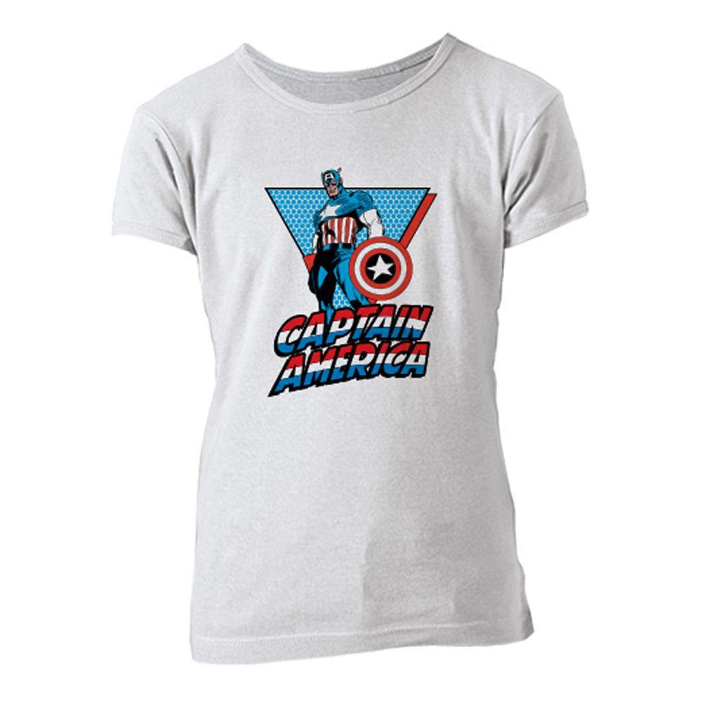 Captain America Retro Tee for Girls  Customizable Official shopDisney