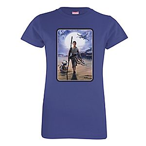Rey and BB-8 Tee for Girls - Star Wars: The Force Awakens - Customizable