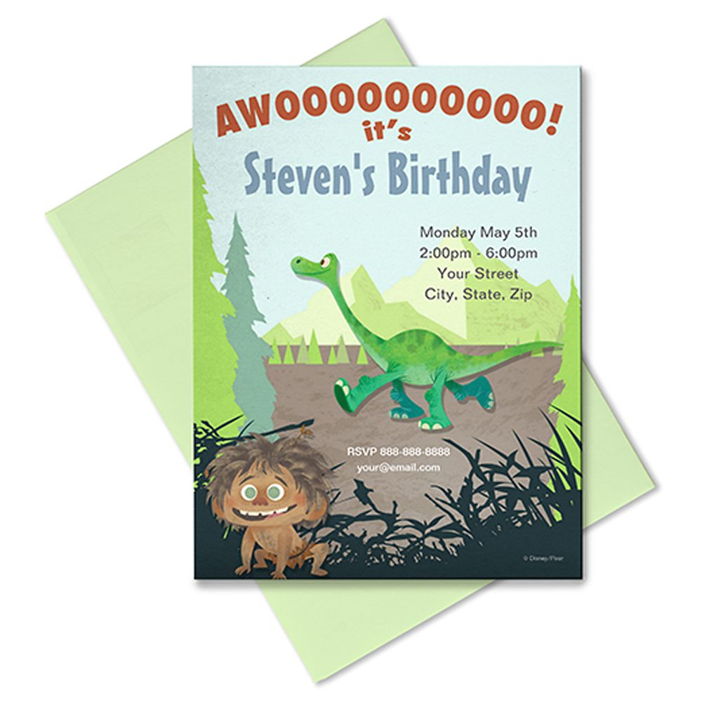 The Good Dinosaur Invitation – Customizable