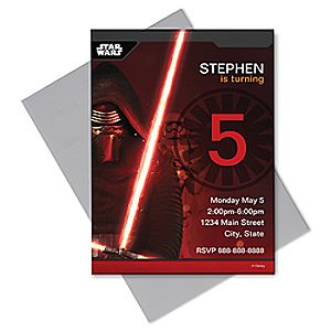 Kylo Ren Invitation - Customizable  - Star Wars 7200000986ZESP