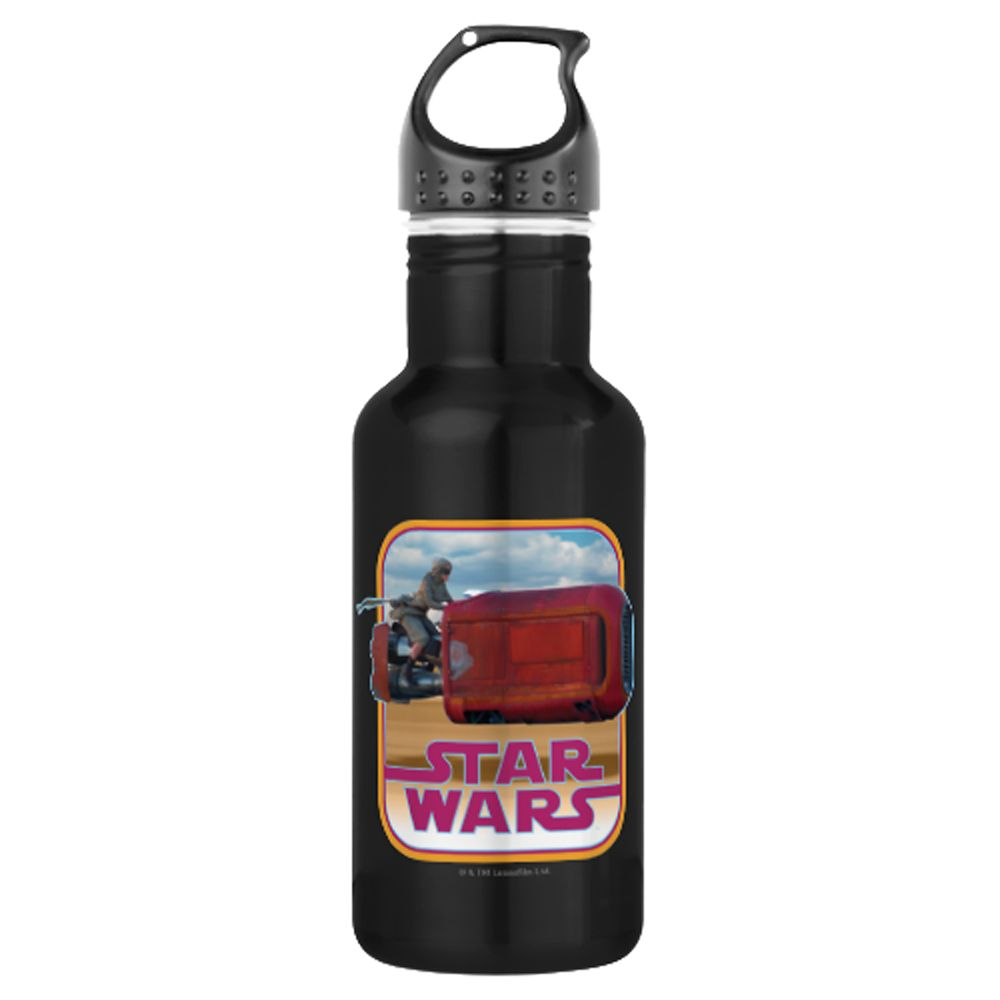 Rey and Speeder Water Bottle  Star Wars: The Force Awakens  Customizable Official shopDisney
