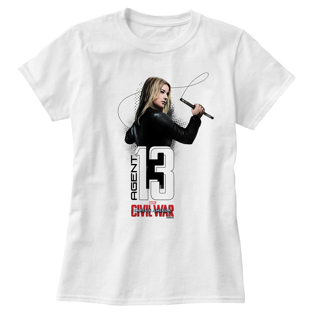 Agent 13 Tee for Women  Captain America: Civil War  Customizable Official shopDisney