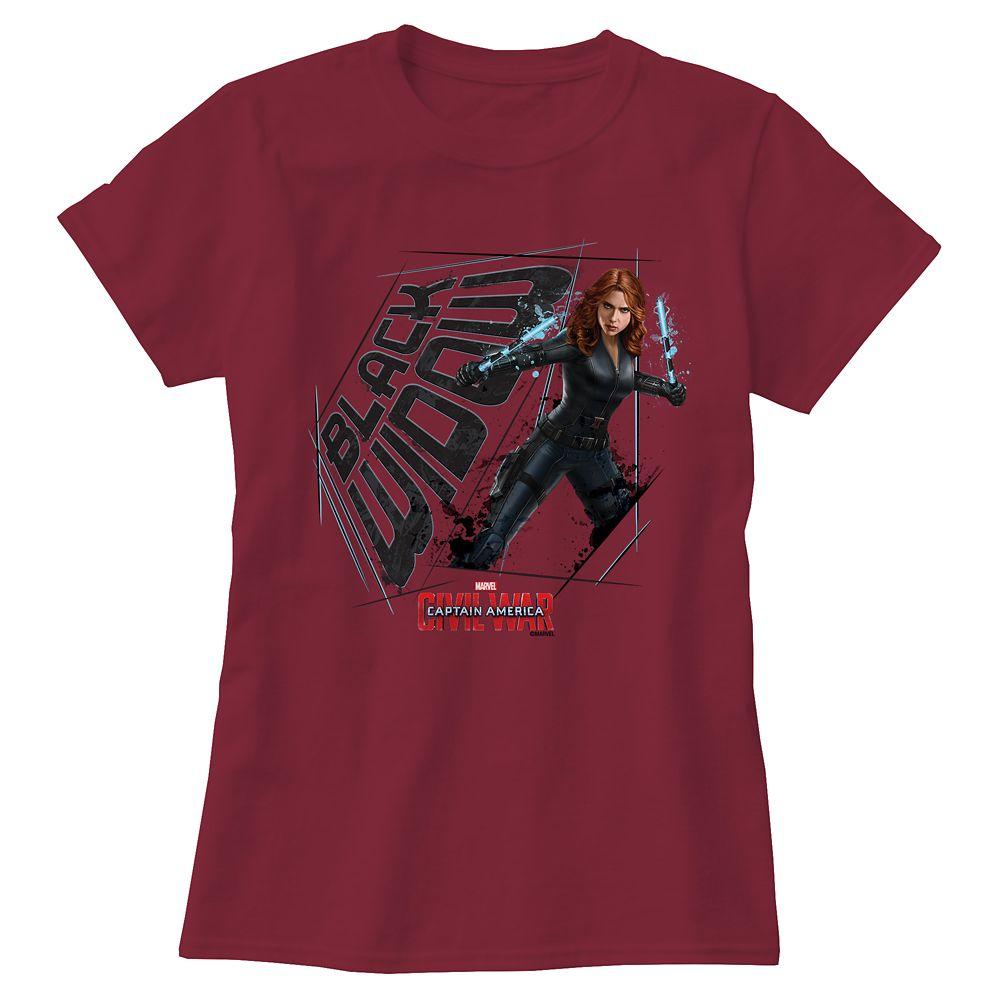 Black Widow Tee for Women: Captain America: Civil War  Customizable Official shopDisney