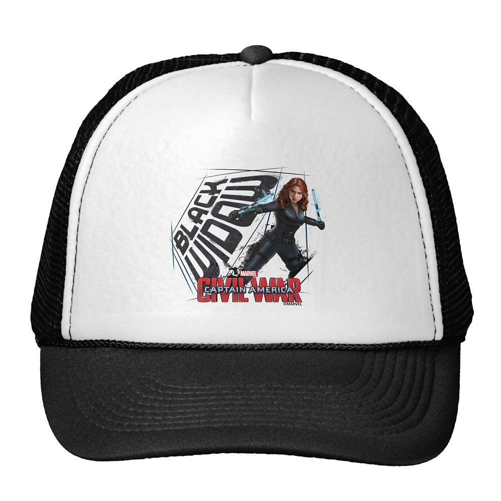 Black Widow Trucker Hat: Captain America: Civil War – Customizable
