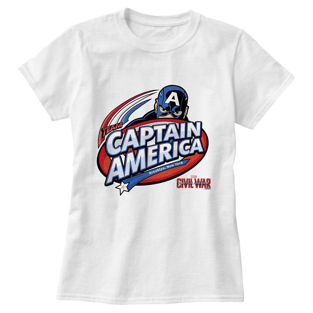 Captain America: Civil War Logo Tee for Women – Customizable