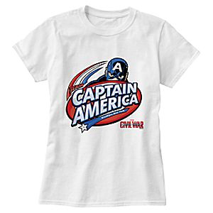 Captain America: Civil War Logo Tee for Women – Customizable