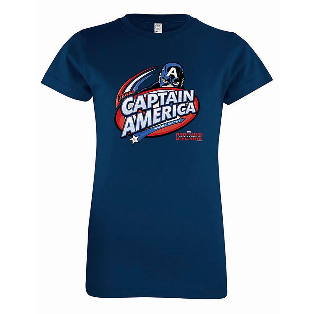 Captain America: Civil War Logo Tee for Girls – Customizable