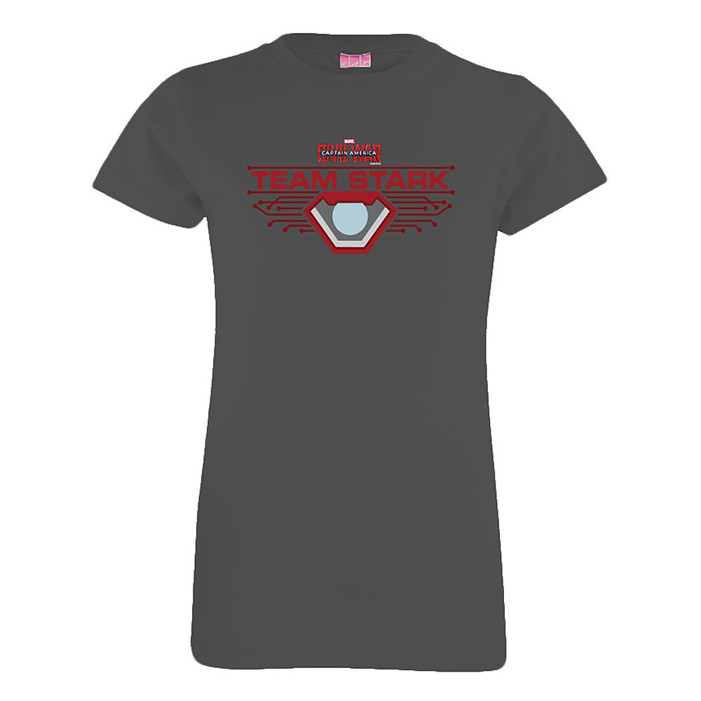 shopdisney.com - Team Stark Tee for Girls  Captain America: Civil War  Customizable Official shopDisney 18.95 USD