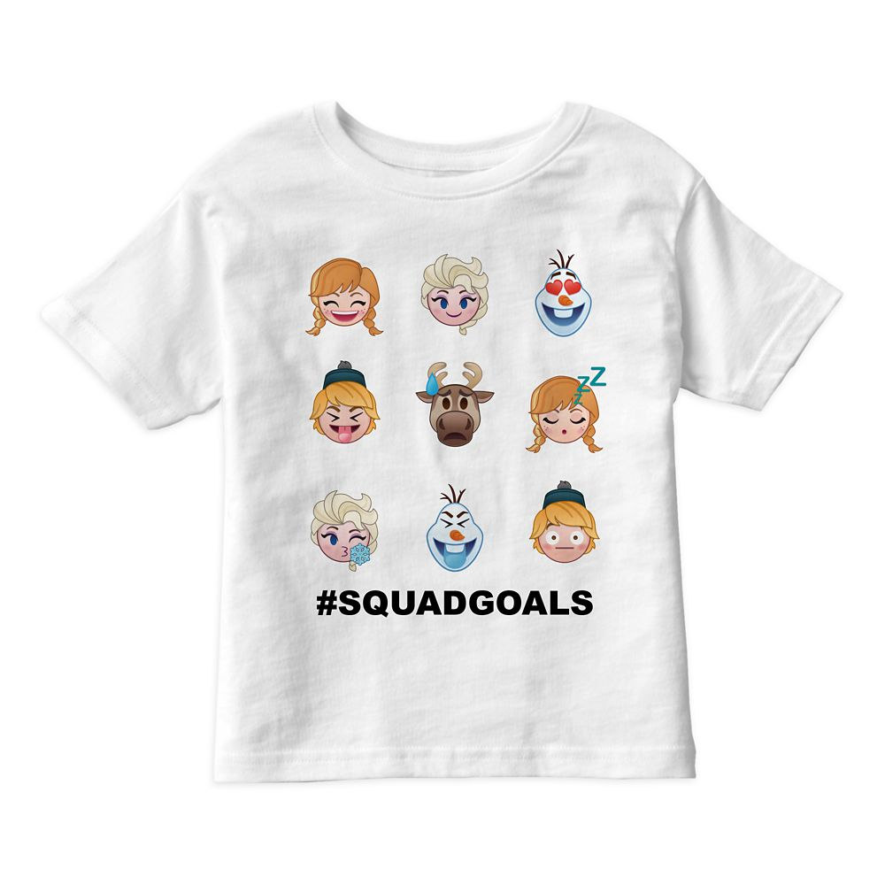 Frozen Emoji Characters Tee for Kids – Customizable