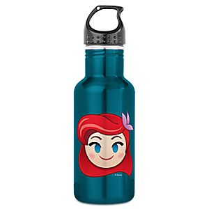 The Little Mermaid Emoji Water Bottle - Customizable