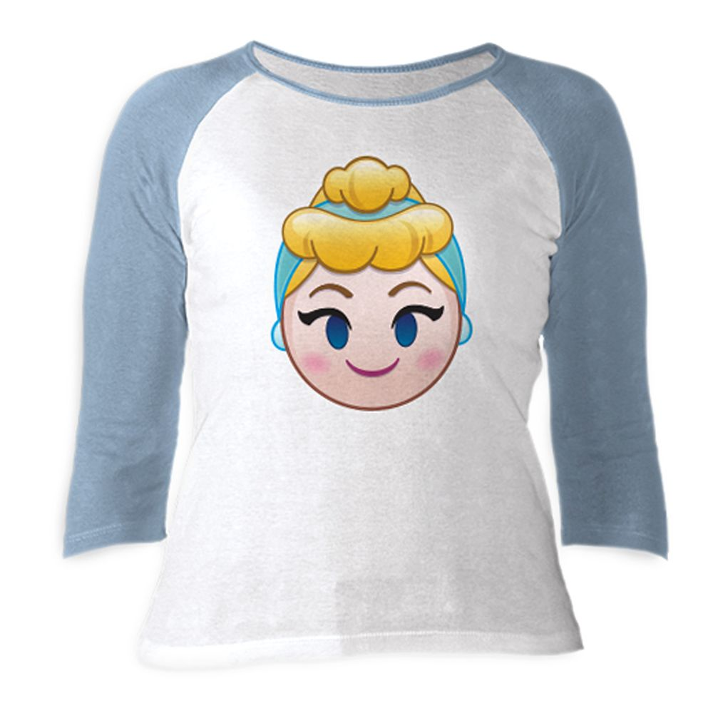 Cinderella Emoji 3/4 Sleeve Raglan Tee for Women  Customizable Official shopDisney