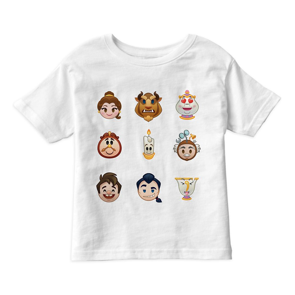Beauty and the Beast Emoji Tee for Kids  Customizable Official shopDisney