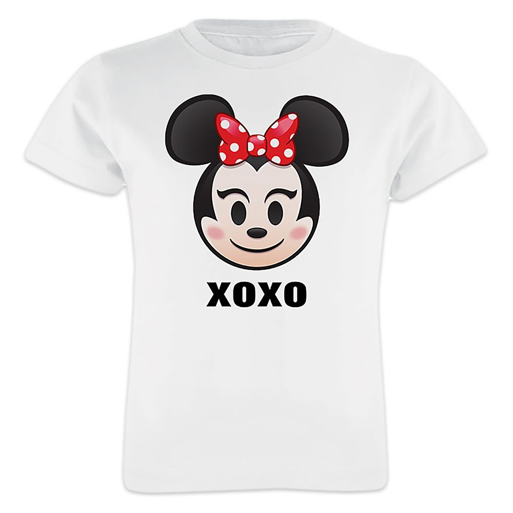 Minnie Mouse Emoji Tee for Girls – Customizable
