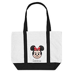 Minnie Mouse Emoji Tote Bag – Customizable