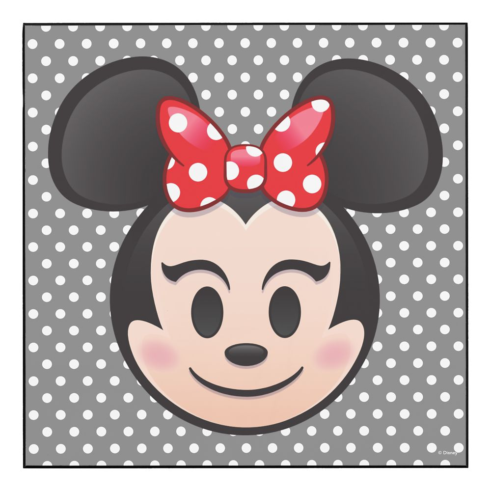 Minnie Mouse Emoji Wood Wall Art – Customizable