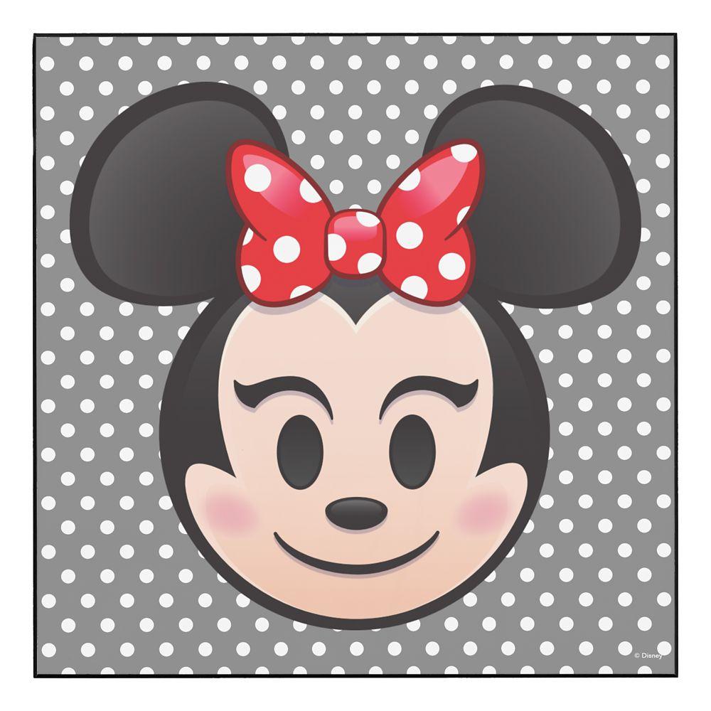 Minnie Mouse Emoji Wood Wall Art  Customizable Official shopDisney