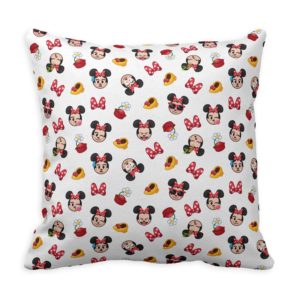 Minnie Mouse Emoji Pillow  Customizable Official shopDisney